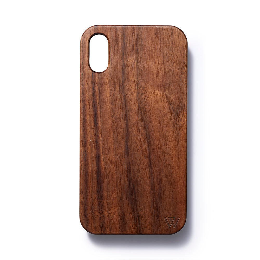 Iphone XR back case walnut - Woodstylz