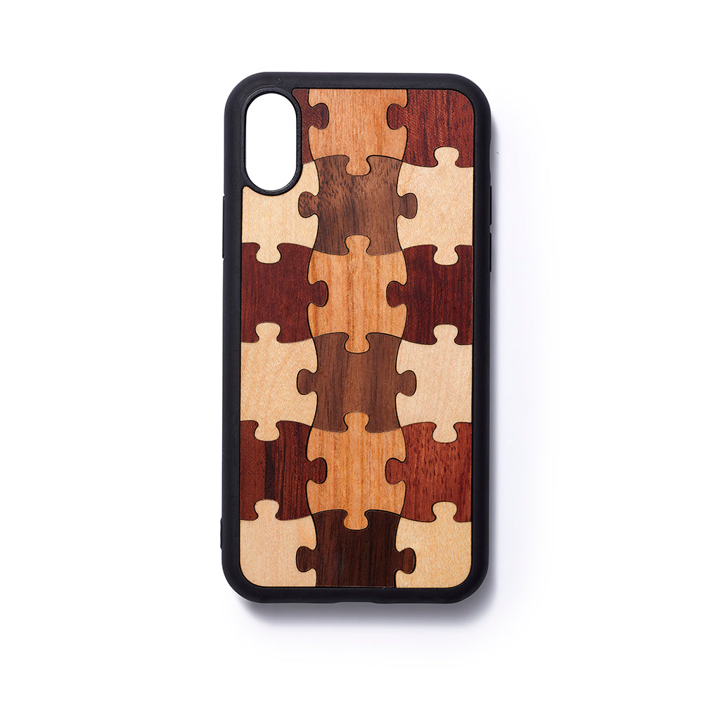 Wooden Iphone X back case Puzzle - Woodstylz