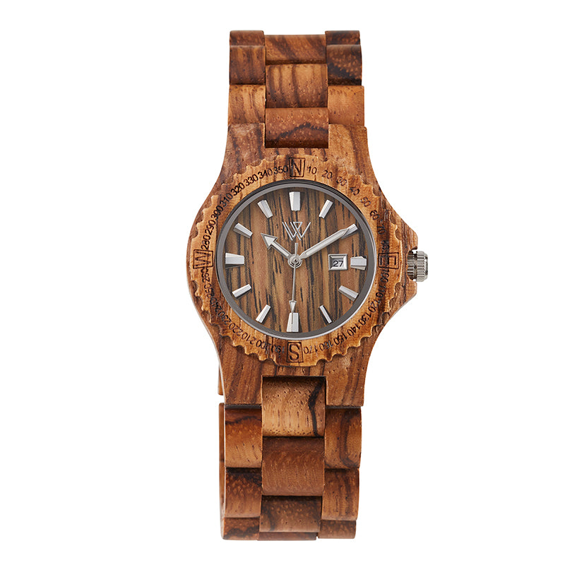 Wooden Watch Zebrano Medium - Woodstylz