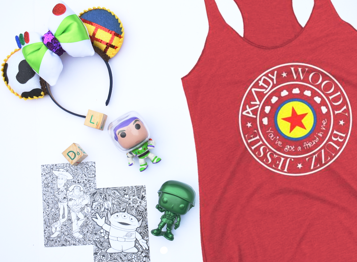 Toy Story Pixar Ball Women's Racerback Tank