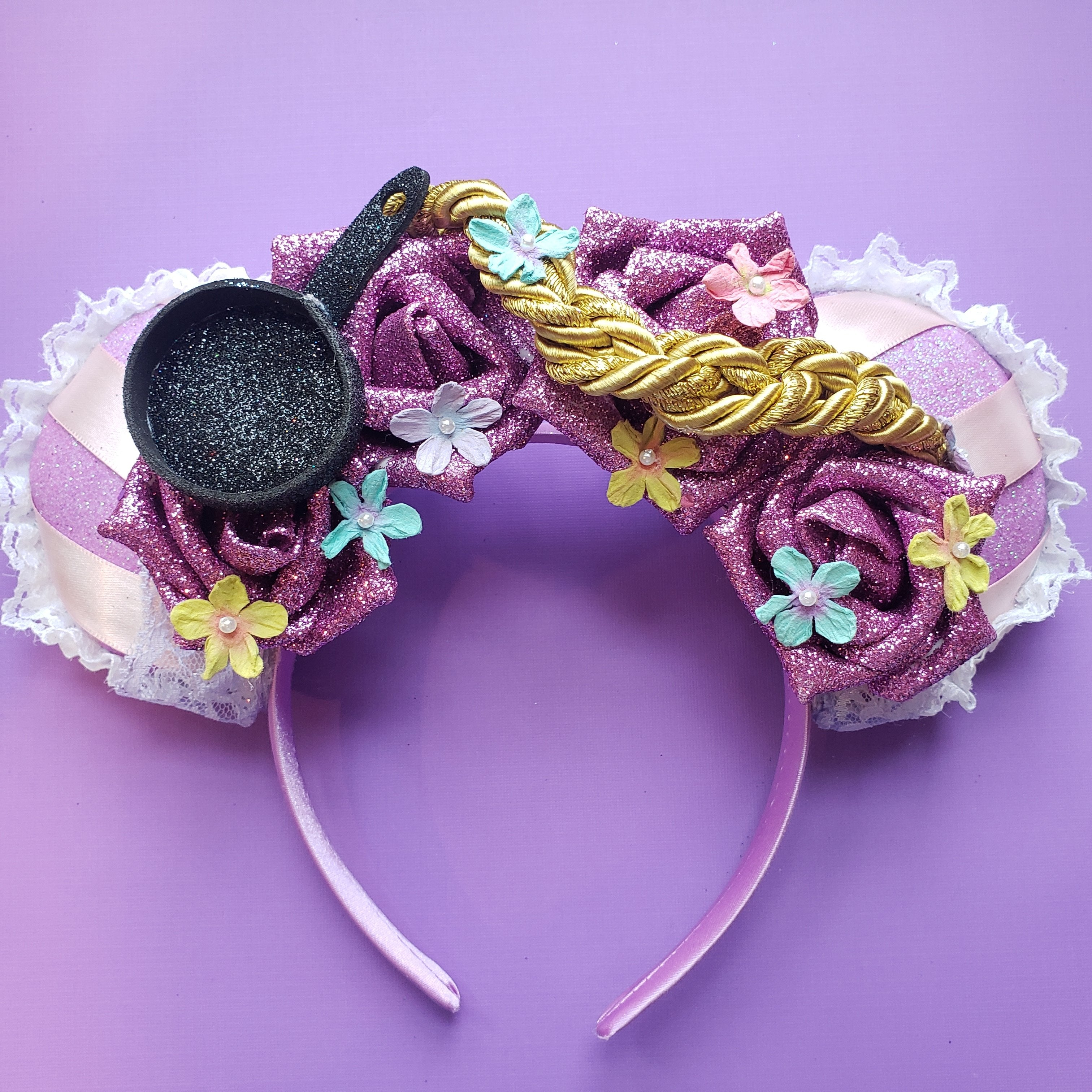 Flowers in her Hair Princess Glitter Floral