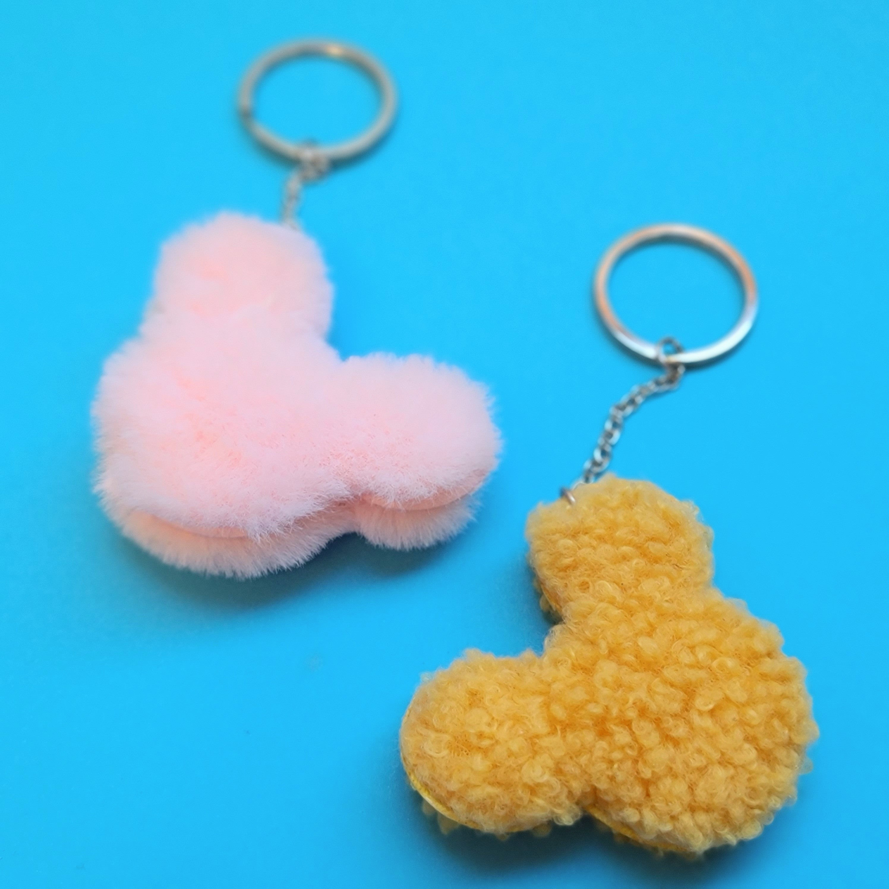 Fuzzy Mouse Keychains