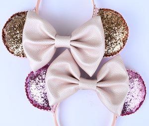 Reversible Rose Gold and Millenial Pink Ears