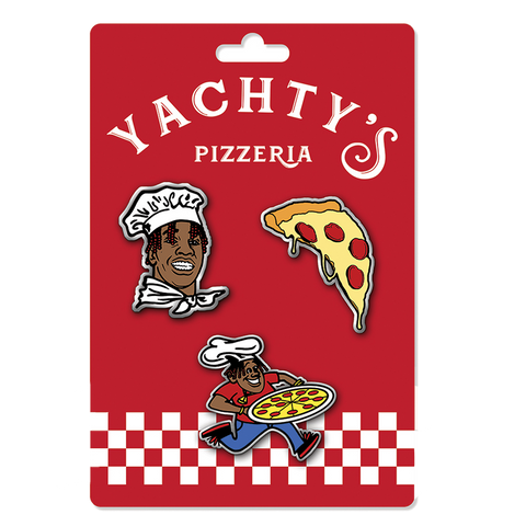 Pizzeria Enamel Pin Set