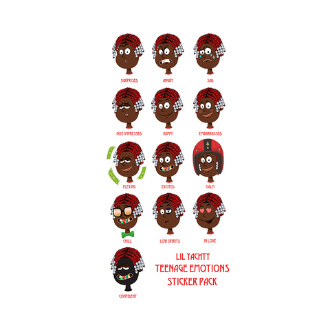 Teenage Emotions Sticker Pack