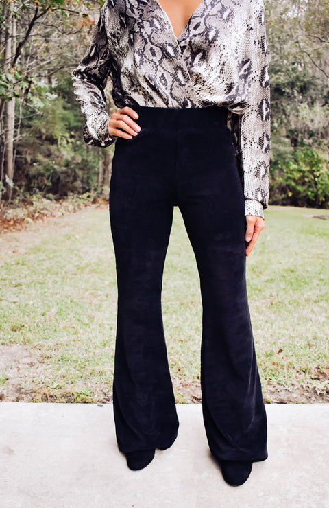 Brielle Soft Corduroy Flare Pants