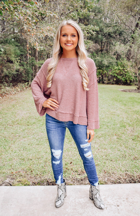 Makenzie Thermal Knit Top