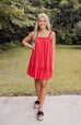 Tropical Destination Lace Babydoll Dress