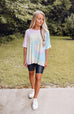 Cotton Candy Tie Dye Oversized Tee