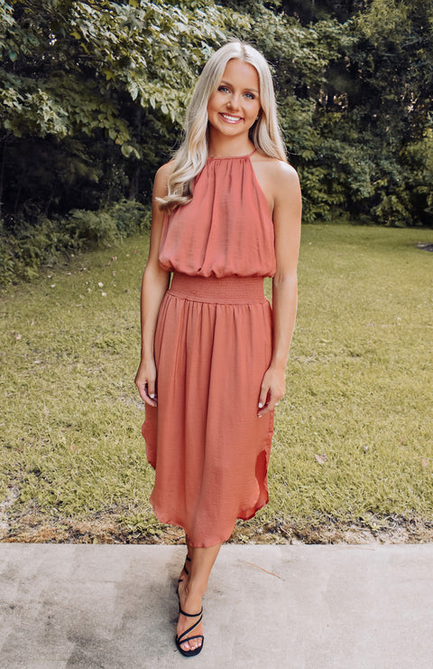 Napa Vineyard Smocked Midi Dress
