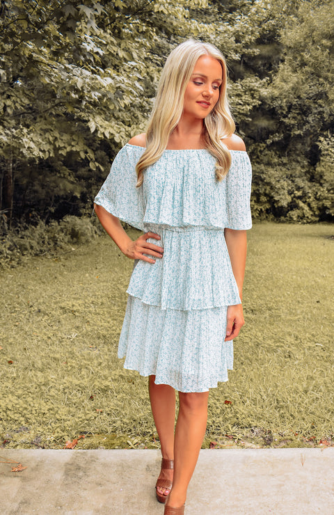 Jules Dainty Floral Tiered Dress