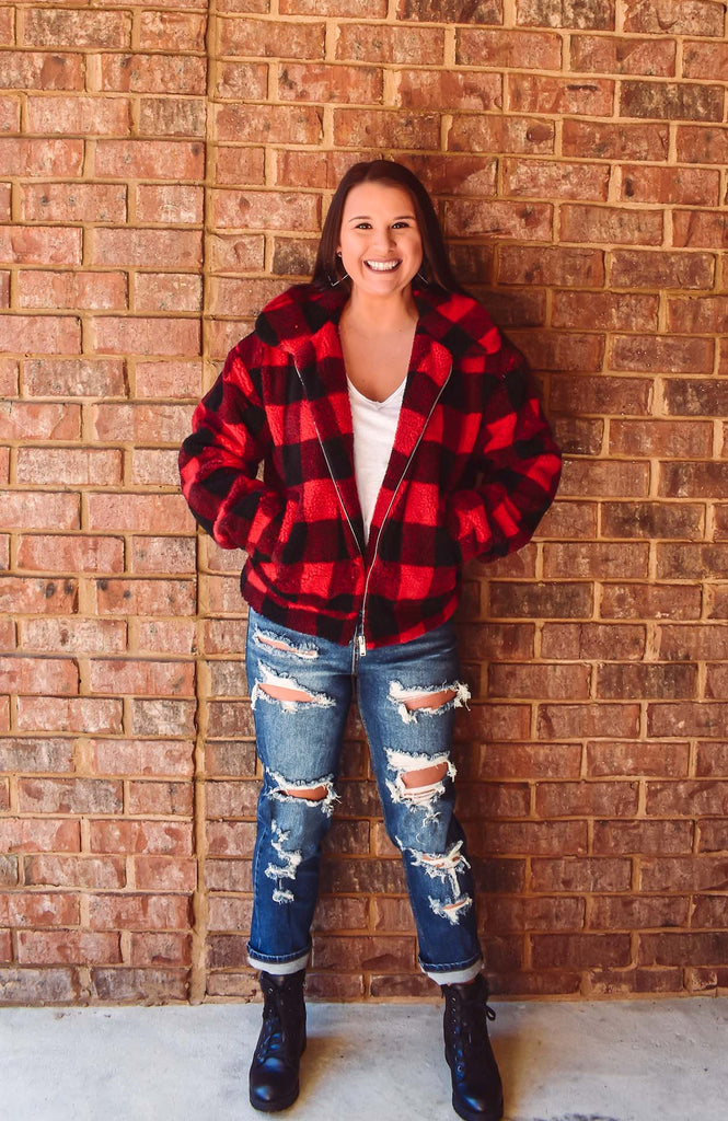 Winter Park Plaid Sherpa Jacket