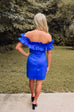 Fallon Ruffle Dress - Deep Blue