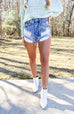 Boss Babe Light Wash Denim Cut Offs