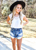 Boss Babe Dark Wash Denim Cut Offs