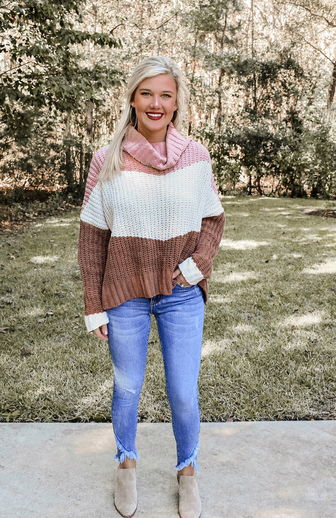 Canyon Rose Colorblock Sweater