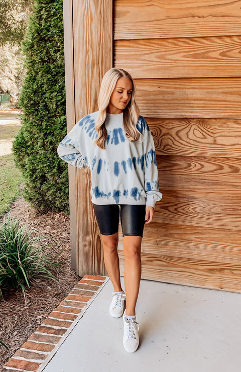 Most Wanted Tie Dye Sweatshirt - Blue