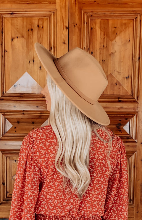 All Season Long Hat - Light Tan
