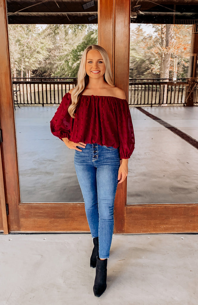Autumn Spice Off The Shoulder Top