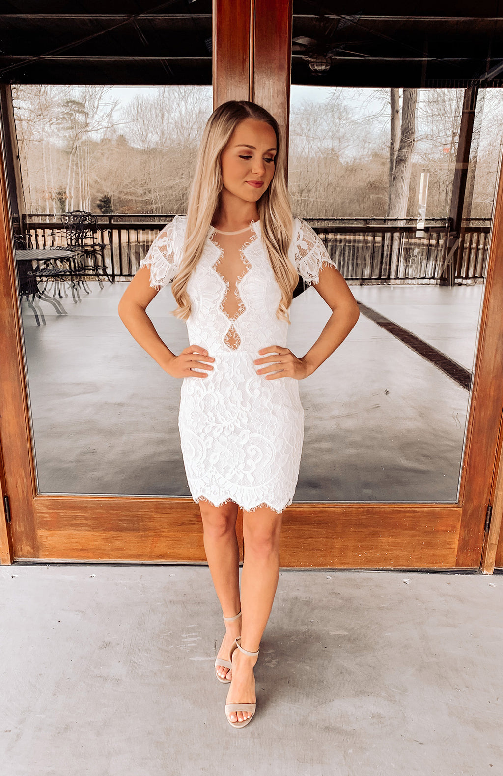Lost In The Moment Lace Dress