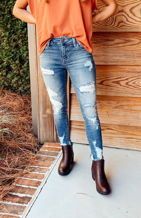 Keely Distressed Skinny Jeans