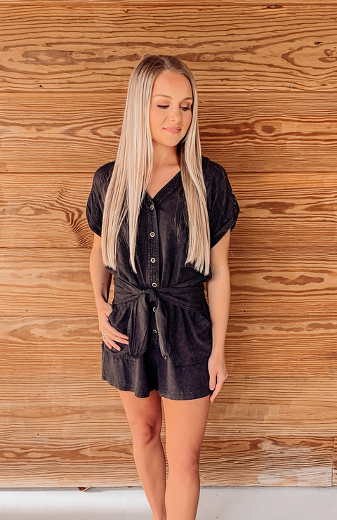 Gulf Shores Pocketed Romper