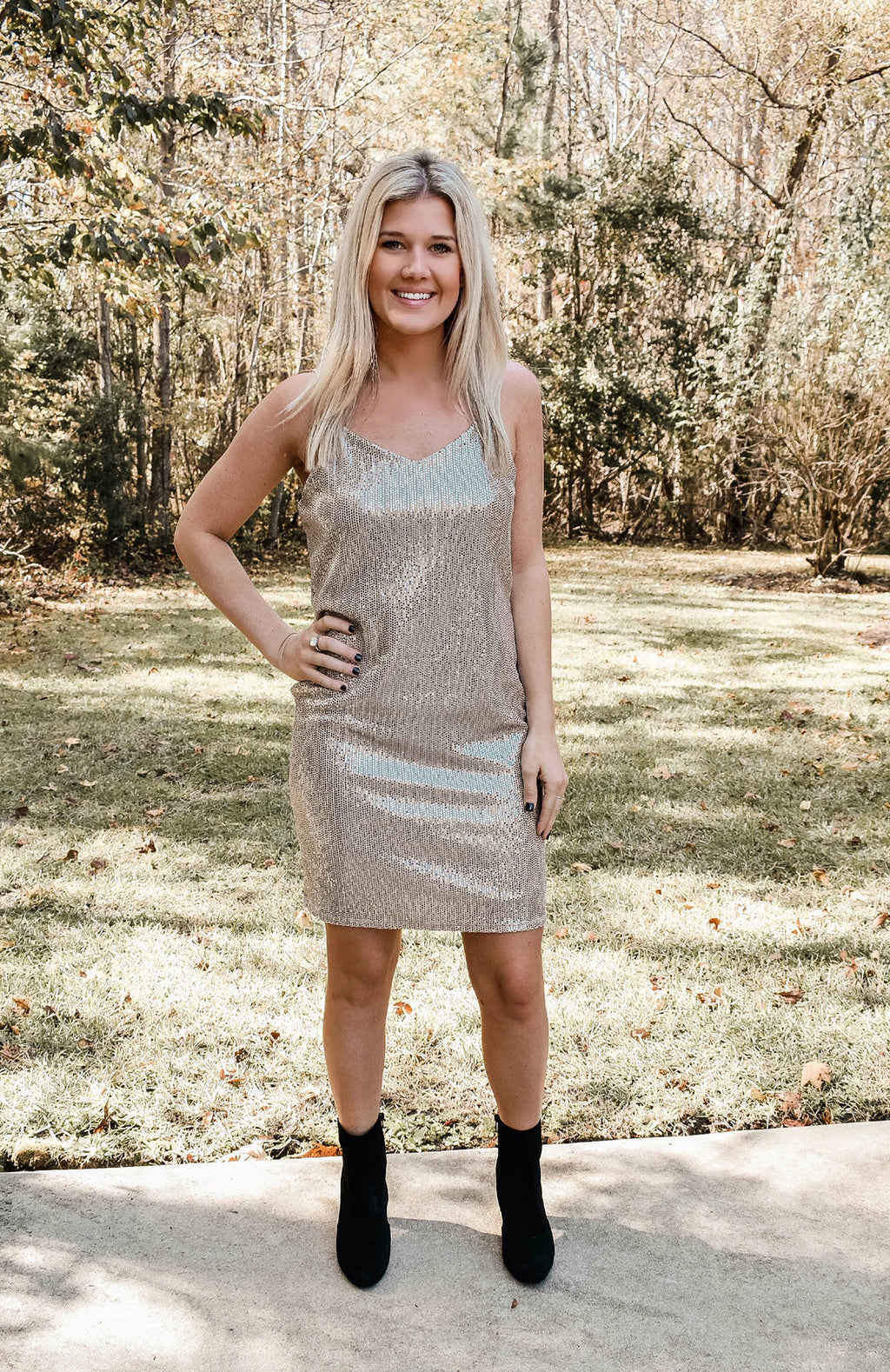 Eyes On You Sequin Dress
