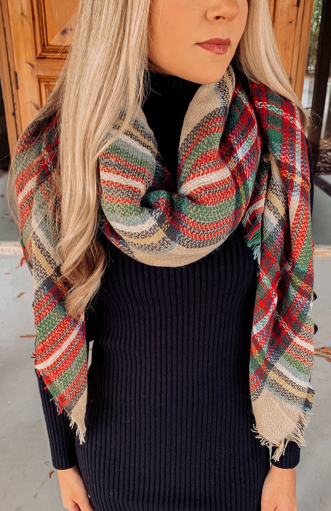 Holiday Traditions Plaid Scarf