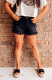 Tanner Frayed Denim Shorts