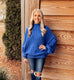 Aspen Nights Oversized Sweater - Blue