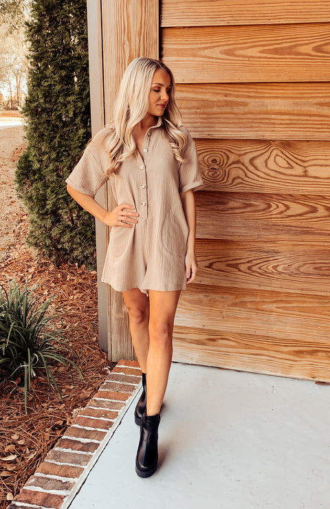Shae Pocketed Linen Romper