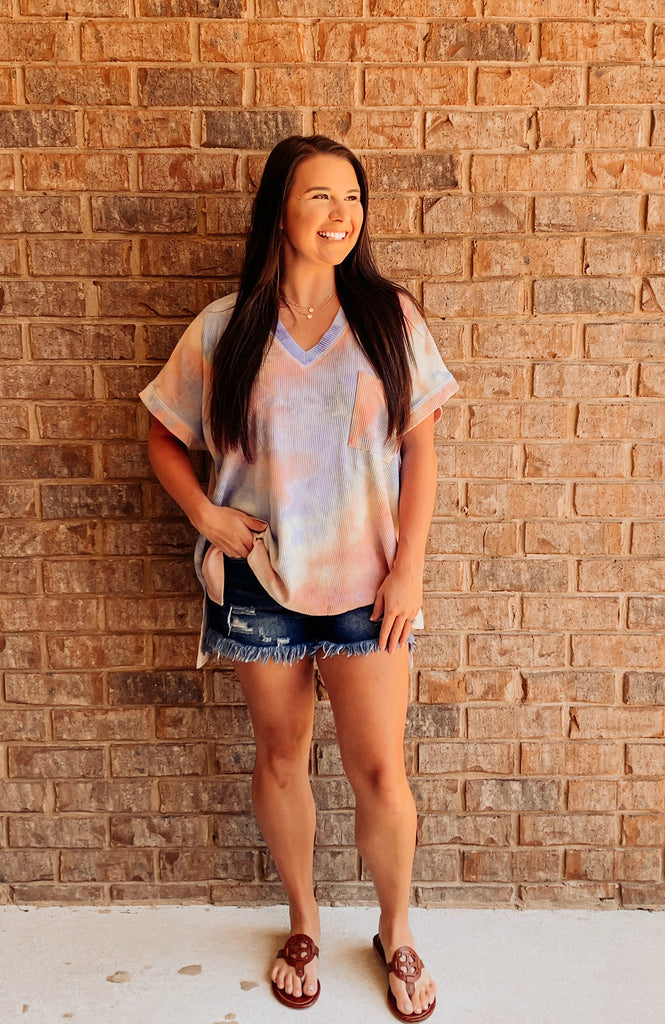 Color Me Happy Tie Dye Top