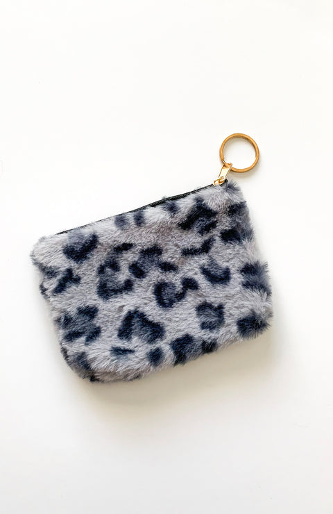 Grey Leopard Coin Purse