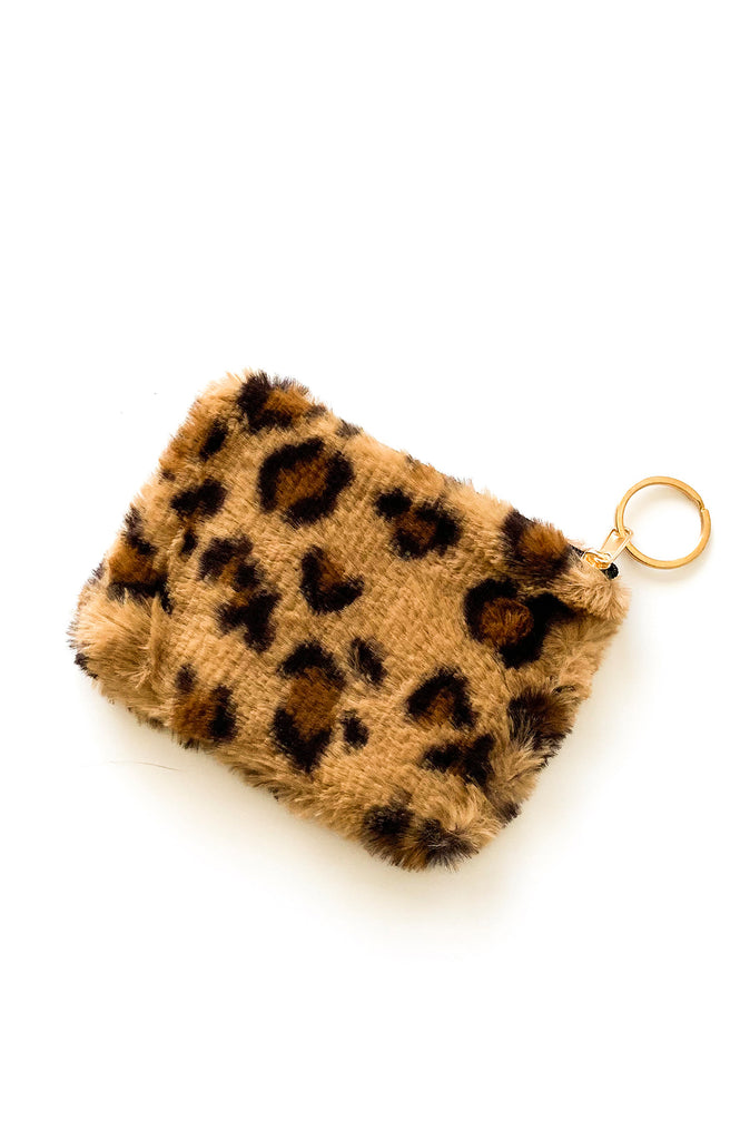 Brown Leopard Coin Purse