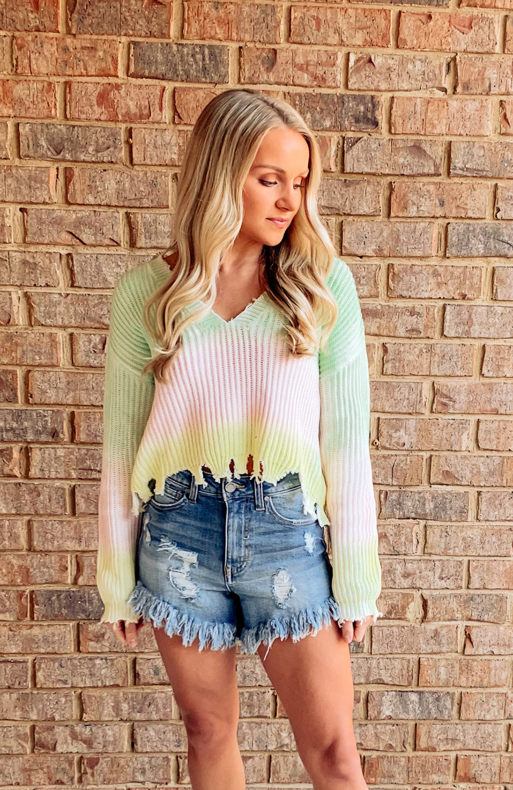 Ready For Spring Cropped Sweater