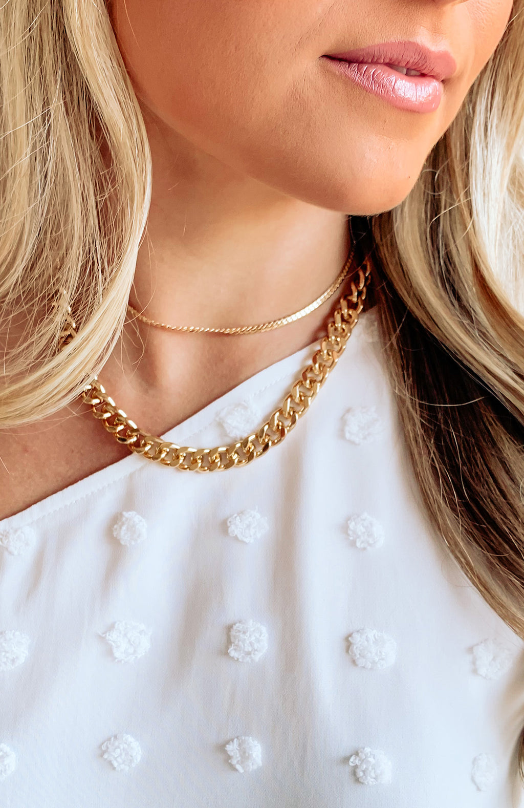 Redbone Double Layered Link Necklace