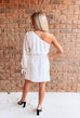 Adore You One Shoulder Dress - White
