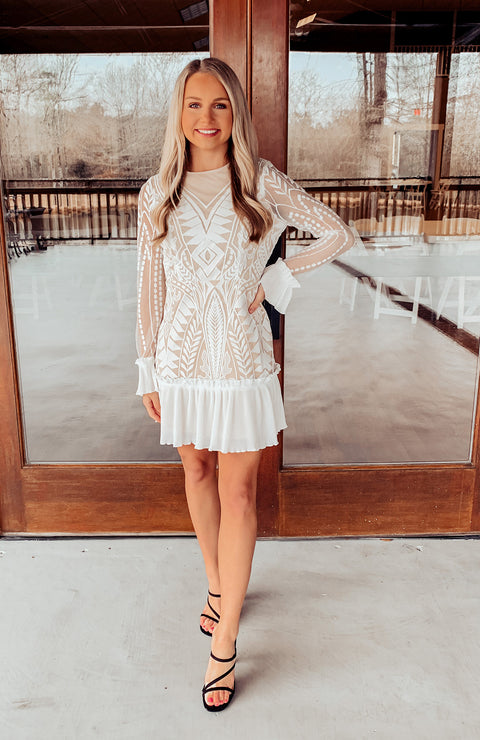 Sweet Perfection Lace Dress