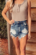 Karla High Waist Denim Shorts