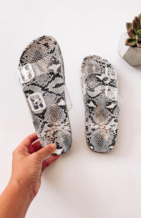 Belize Snakeskin Sandals
