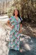 Aqua Tropical Maxi Dress