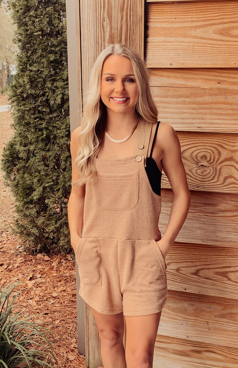 Free Fall Overall Knit Romper