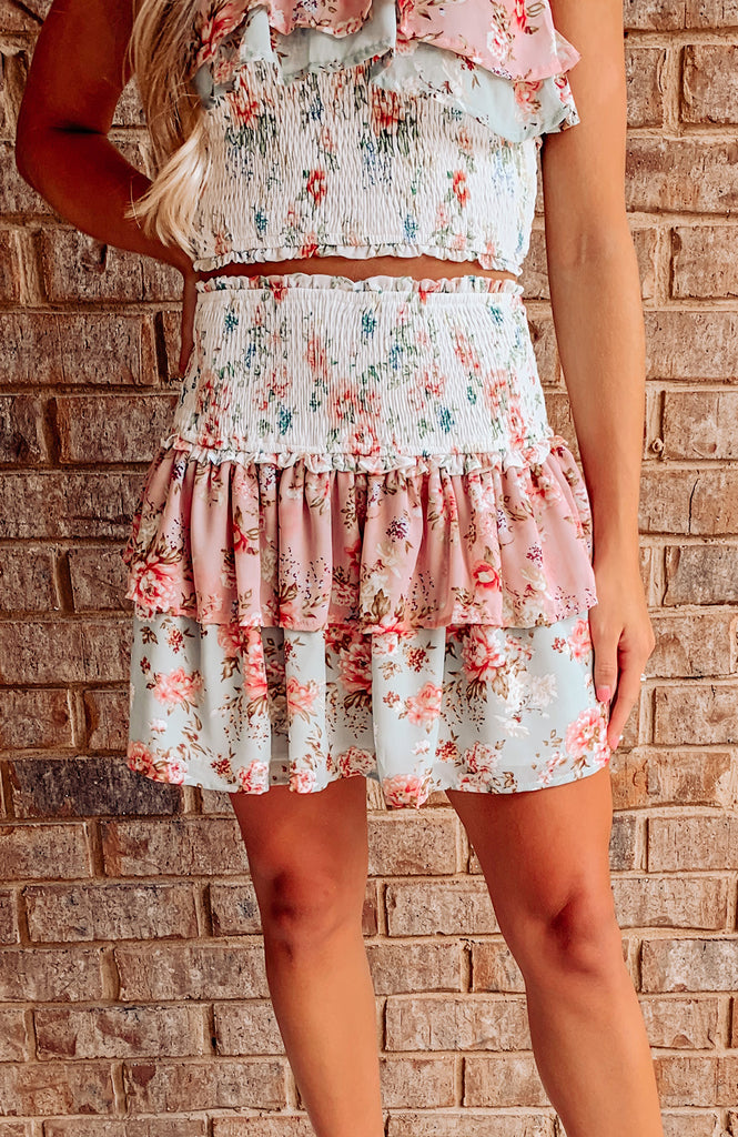 Simply Sweet Floral Smocked Skirt