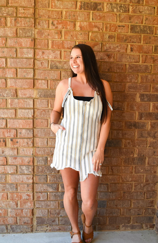 Santa Monica Stripe Mini Dress