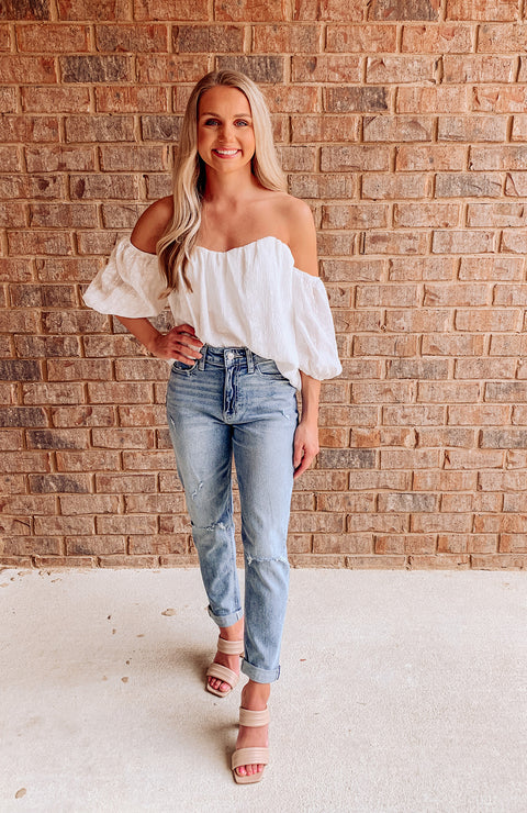 Palm Springs Textured Top