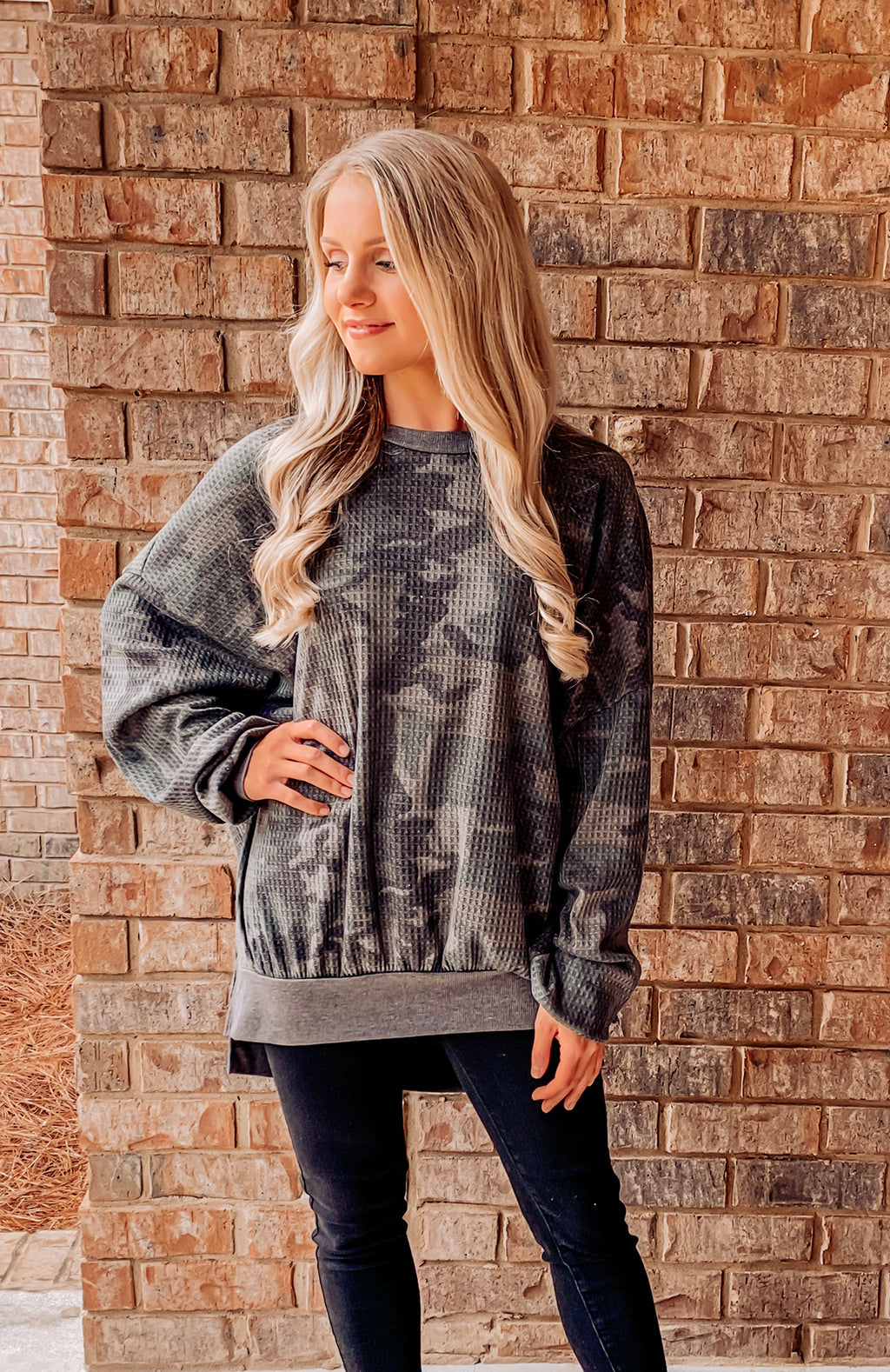 Comfy Camo Oversized Top