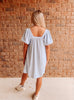 Ocean Skies Pocketed Swing Dress