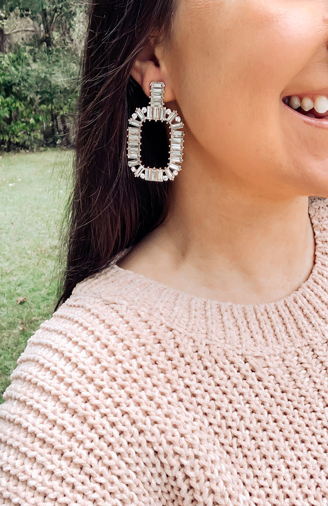 Holiday Baguette Earrings