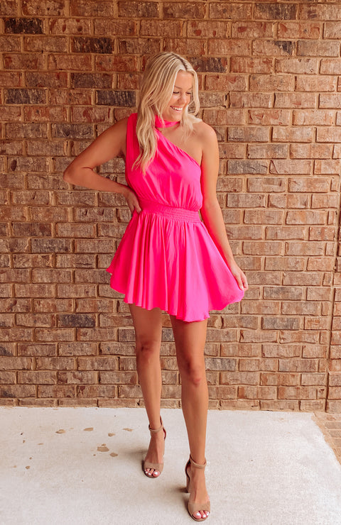 Charleston Nights One Shoulder Dress