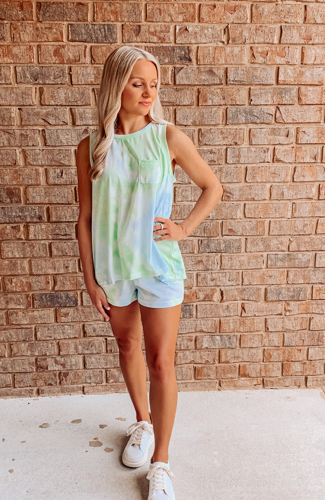 One & Done Tie Dye Shorts Set